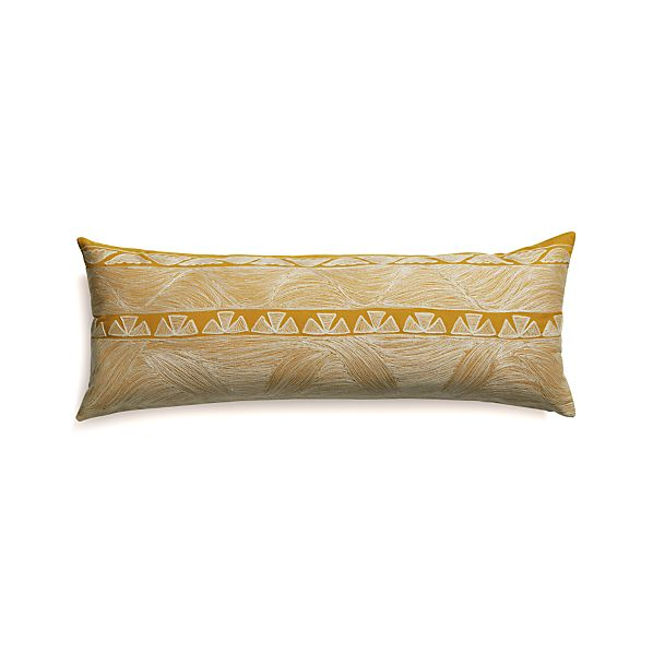 """Kentra 36""""x14"""" Pillow with Feather-Down Insert"""