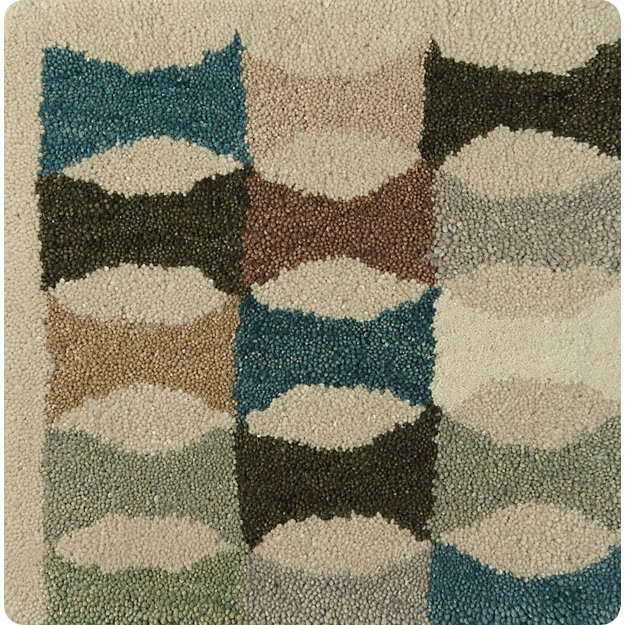 "Kepler Teal Wool 12"" sq. Rug Swatch"