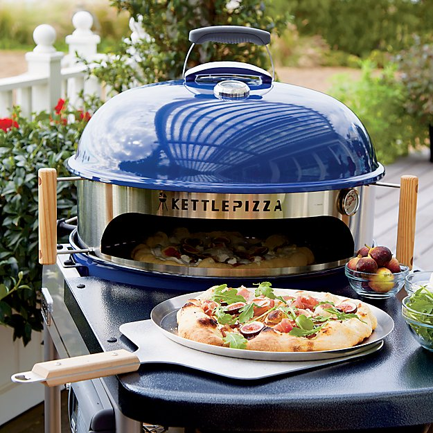kettlepizza outdoor pizza oven kit in barbecue grilling reviews crate and barrel. Black Bedroom Furniture Sets. Home Design Ideas