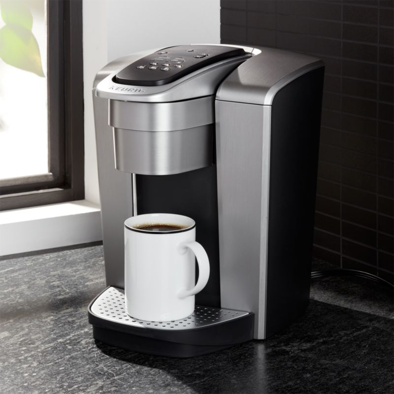 Keurig Brushed Silver K Elite Brewer Reviews Crate And