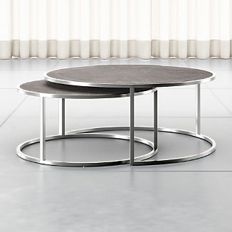 Keya Stainless Steel Nesting Coffee Tables