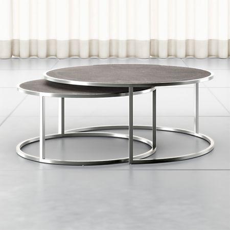 Keya Stainless Steel Nesting Coffee Tables