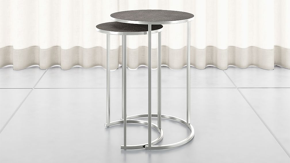 Keya Nesting Accent Tables Stainless Steel - Image 1 of 9