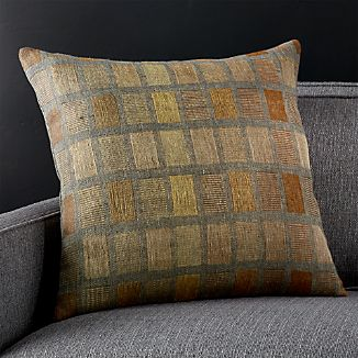 "Kiara 20"" Pillow with Feather-Down Insert"