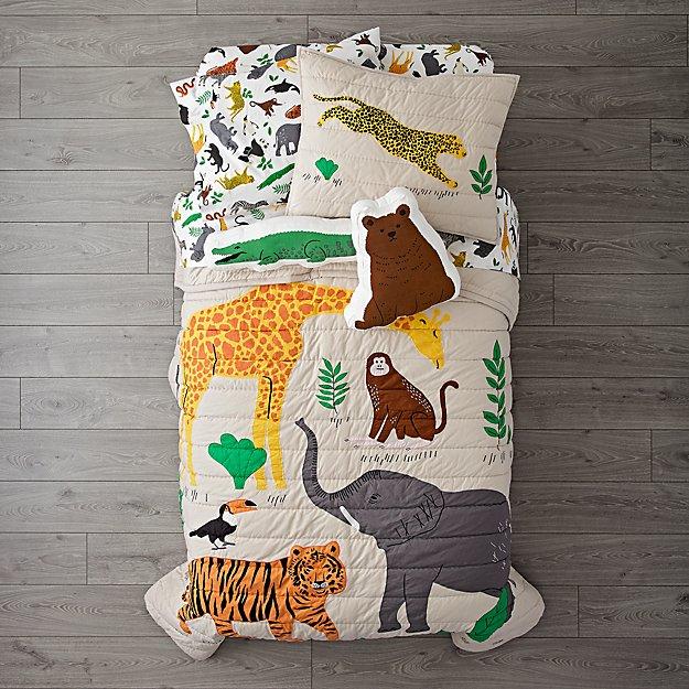 Applique Jungle Animal Bedding Crate And Barrel