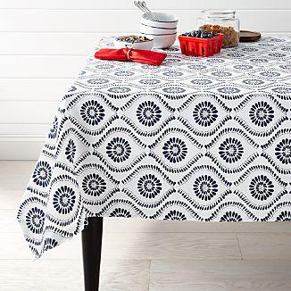 "Kiran Indigo 60""x90"" Tablecloth"
