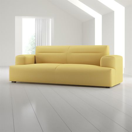 Kirby Yellow Sofa With Deep Cushions
