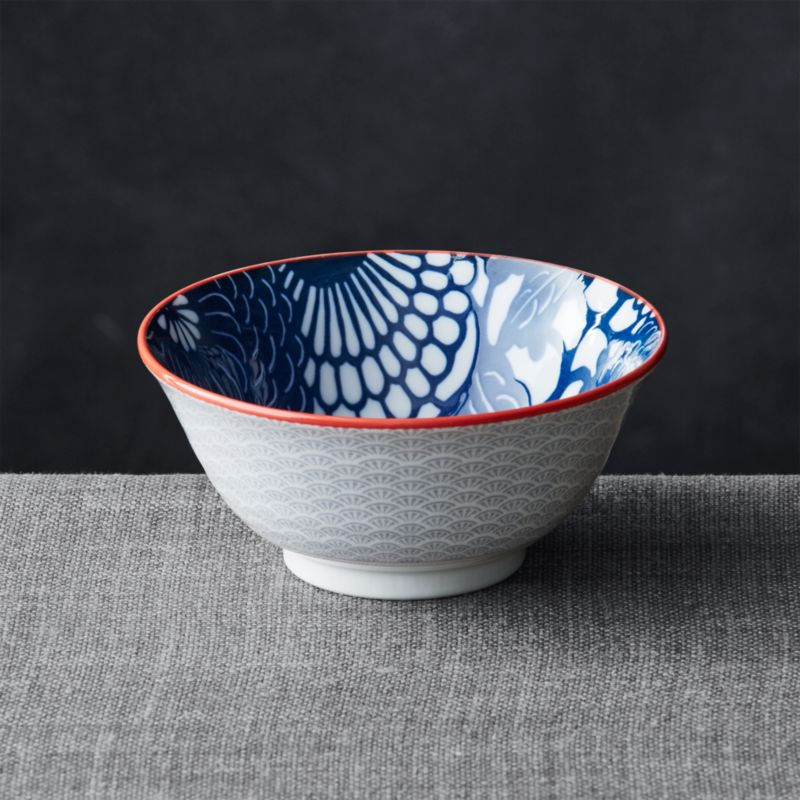 "Kiso Blue 6"" Rice Bowl"