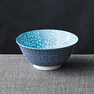 "Kiso Light Blue 6"" Rice Bowl"