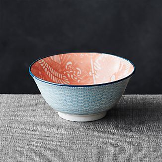 "Kiso Orange 6"" Rice Bowl"