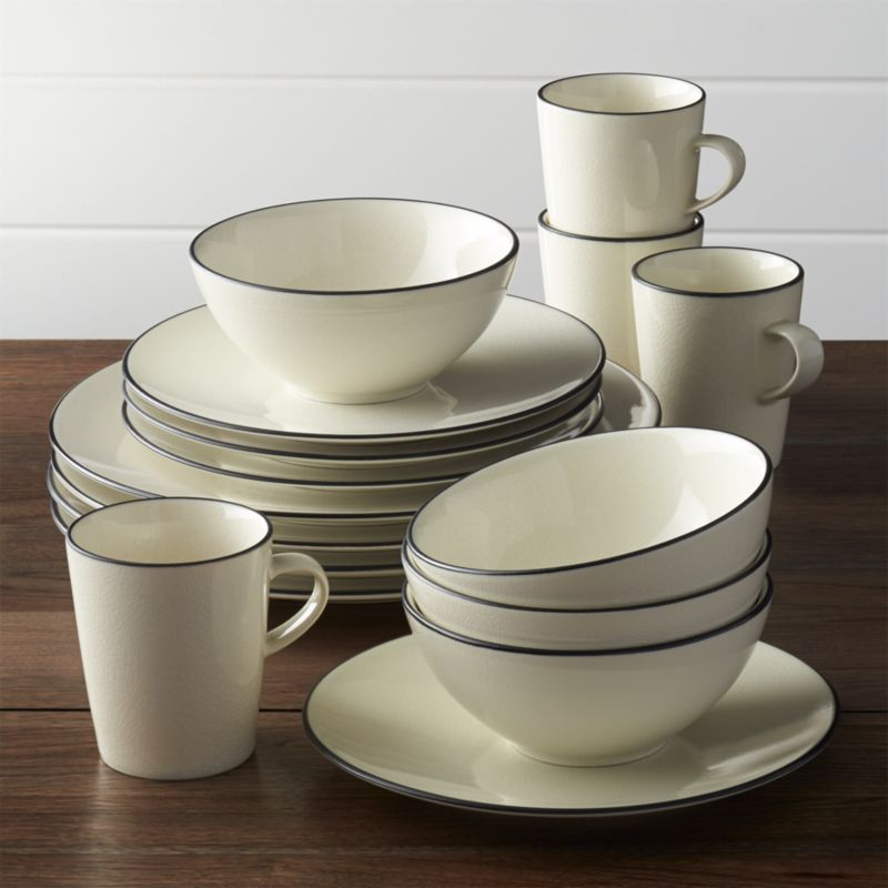 Kita 16 Piece Dinnerware Set Reviews Crate And Barrel