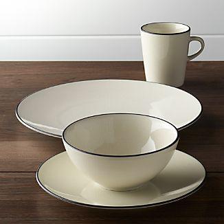 kita 4 piece place setting - Modern Dinnerware