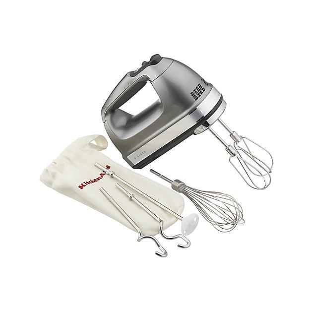 KitchenAid ® Silver 9-Speed Contour Hand Mixer - Image 1 of 6