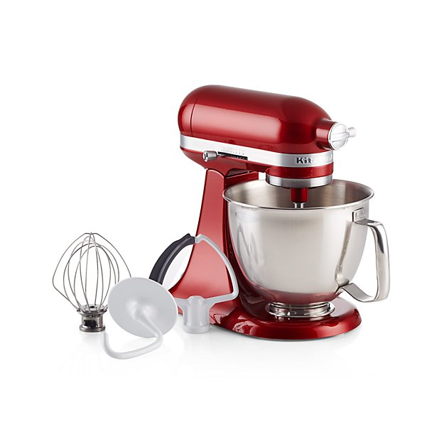 KitchenAid Artisan Mini Candy Apple Red Stand Mixer with Flex Edge Beater - Image 1 of 4