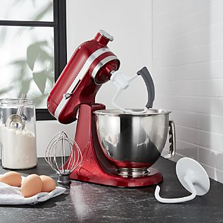 KichenAid Artisan Mini Candy Apple Red Stand Mixer with Flex Edge Beater