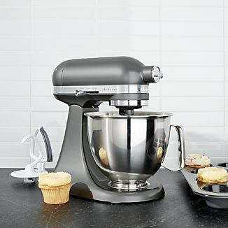 KitchenAid ® Artisan Contour Silver Mini Mixer with Flex Edge Beater