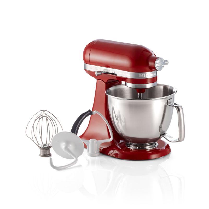 Kitchenaid Artisan Empire Red Mini Mixer With Flex Edge
