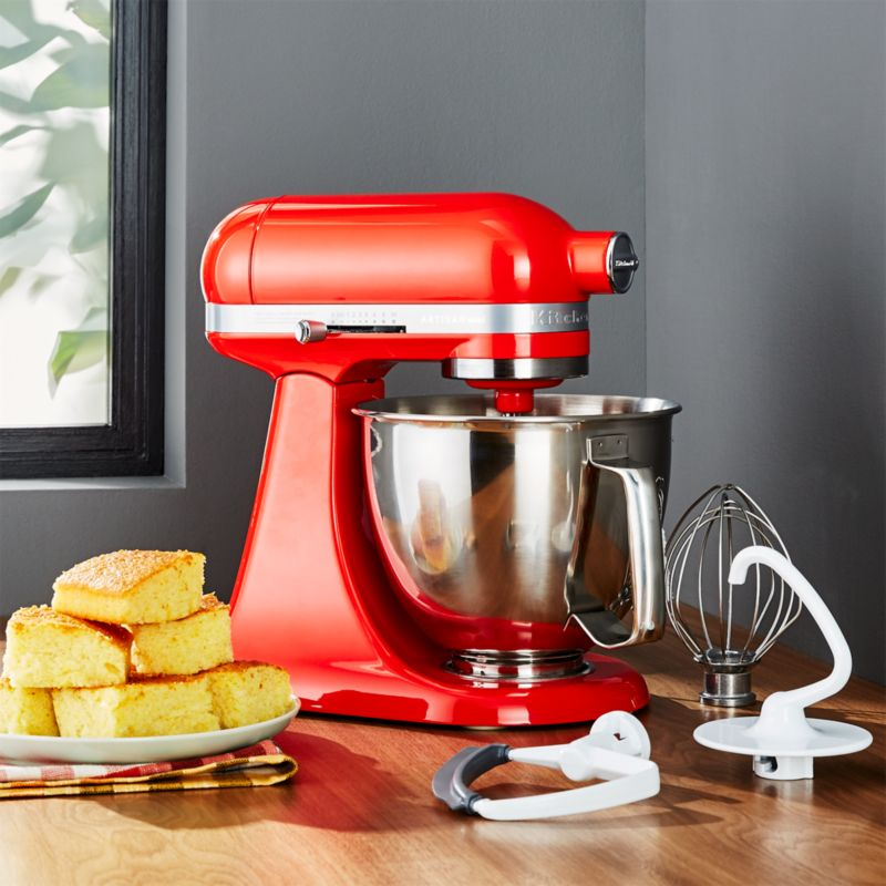 KitchenAid Artisan Mini Candy Apple Red Stand Mixer with Flex Edge on kitchen aid range red, emerson mixer red, kitchen aid food processor red, kitchen aid coffee maker red, 5 qt kitchenaid mixer red,