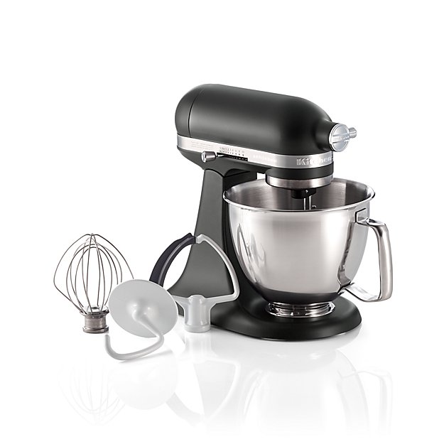 KitchenAid Artisan Matte Black Mini Mixer With Flex Edge