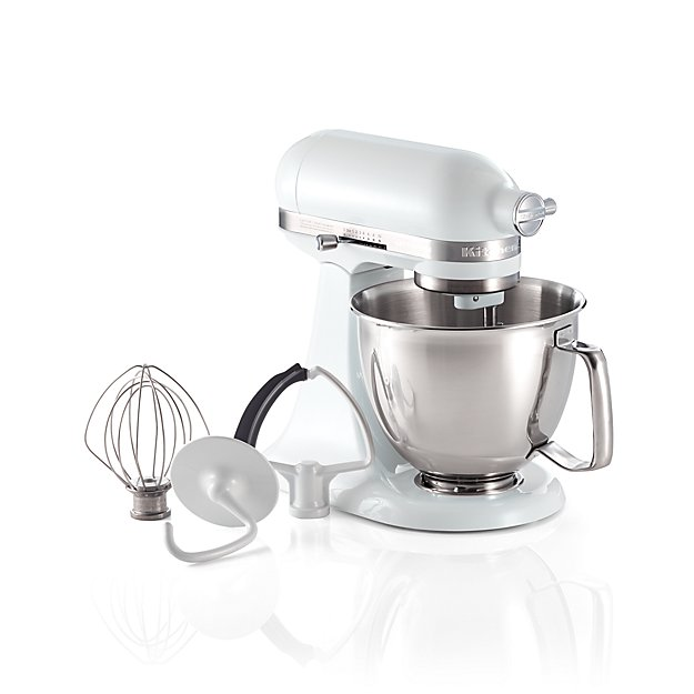 Kitchenaid Artisan White Mini Mixer With Flex Edge Beater