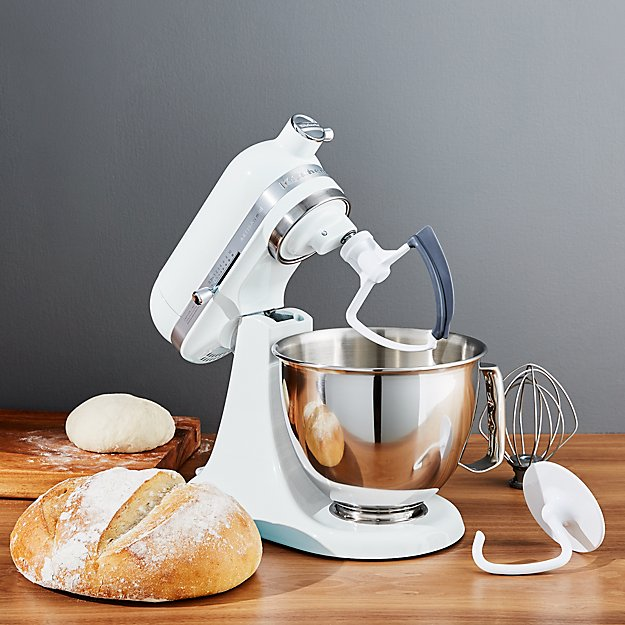 Kitchenaid 174 Artisan White Mini Mixer With Flex Edge
