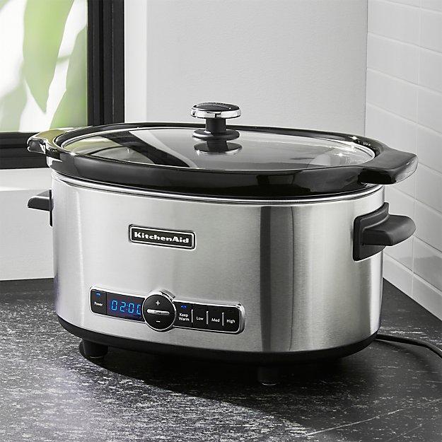 Kitchenaid 6 Qt Slow Cooker Reviews Crate And Barrel