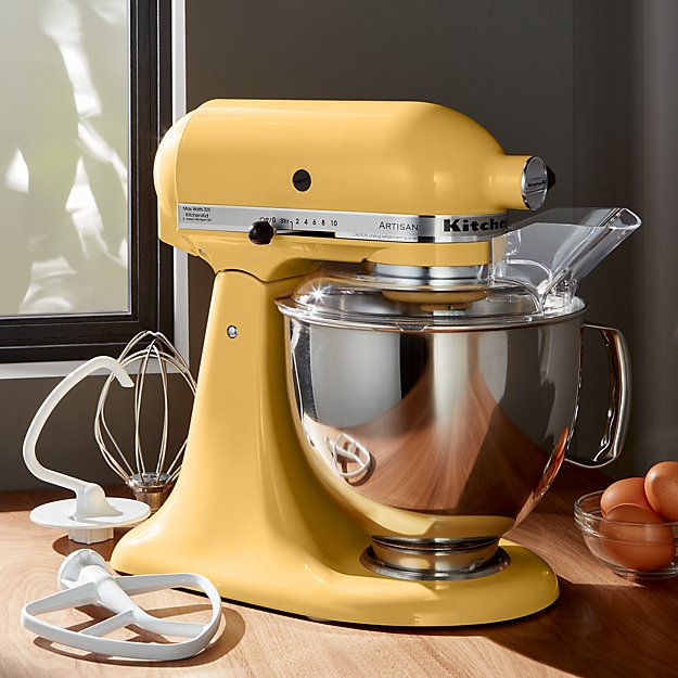 kitchenaid artisan majestic yellow stand mixer crate and barrel. Black Bedroom Furniture Sets. Home Design Ideas