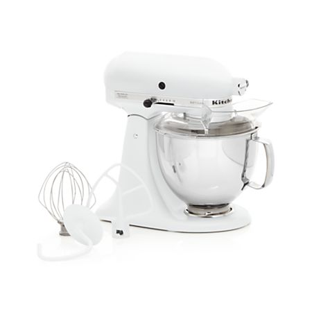 KitchenAid Artisan Matte White Stand Mixer + Reviews | Crate ...