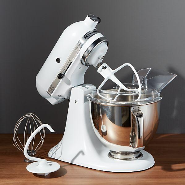 KitchenAid Artisan Matte White Stand Mixer + Reviews | Crate ...