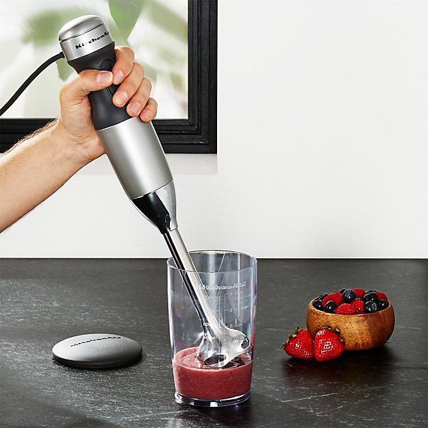 Kitchenaid Contour Silver 2 Sd Hand Blender Reviews Crate And Barrel