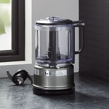 KitchenAid ® Contour Silver 5-Cup Mini Food Processor