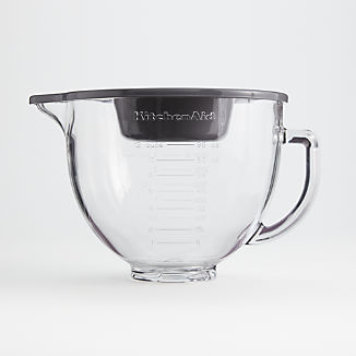 KitchenAid 5-Quart Tilt-Head Glass Bowl with Measurement Markings and Lid