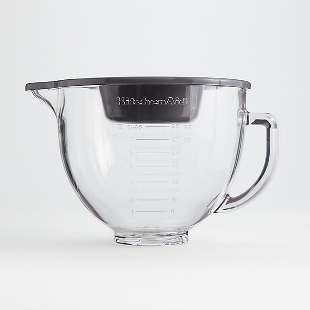 KitchenAid 5-Quart Tilt-Head Glass Bowl with Measurement Markings and Lid - Image 1 of 3