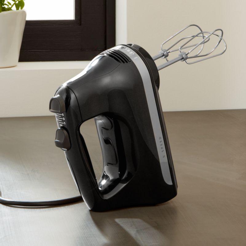 Kitchenaid Hand Mixer 5 Speed kitchenaid ® ice blue 5-speed hand mixer | crate and barrel