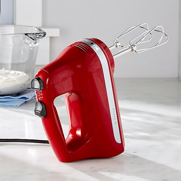 Kitchenaid 174 Empire Red 5 Speed Hand Mixer Crate And Barrel