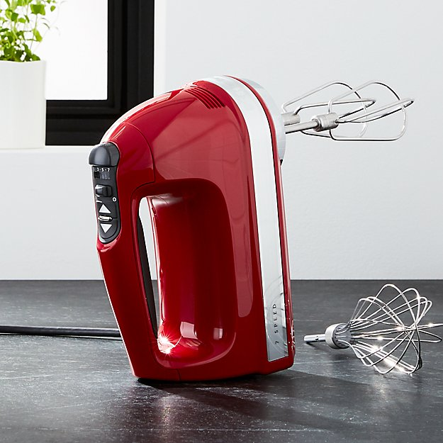 kitchenaid ® empire red 7-speed hand mixer | crate and barrel