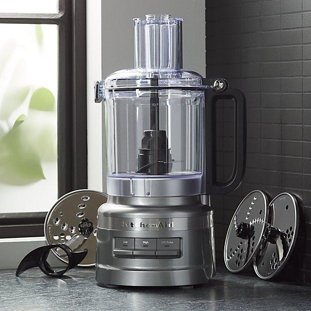 KitchenAid ® Contour Silver 9-Cup Food Processor Plus - Image 1 of 3