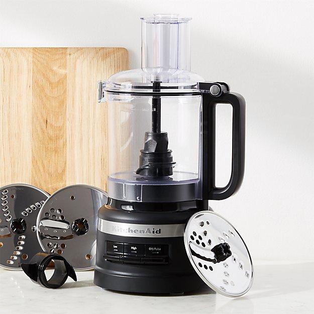 Kitchenaid Matte Black 9 Cup Food Processor Plus Crate