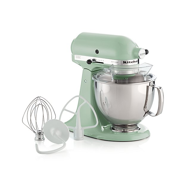 kitchenaid ksm150pspt artisan pistachio stand mixe reviews crate and barrel. Black Bedroom Furniture Sets. Home Design Ideas