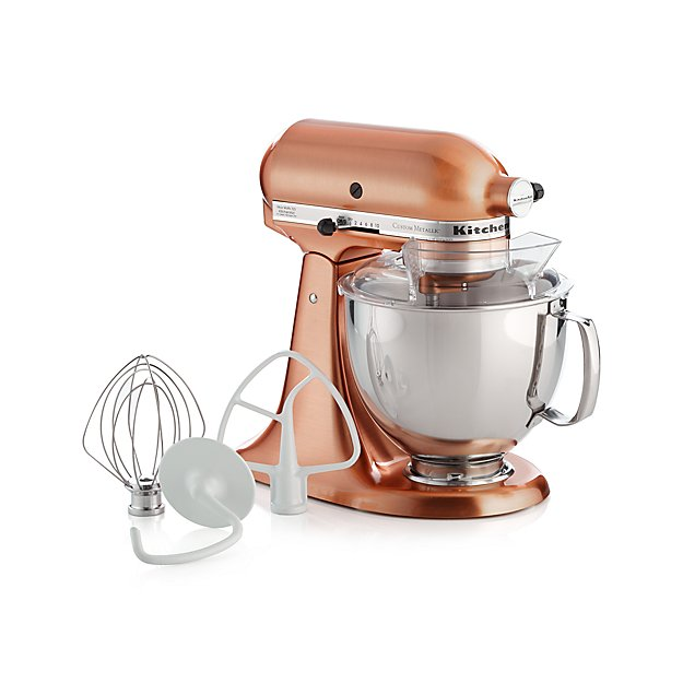 Fabric Exhibition Stand Mixer : Kitchenaid copper metallic series stand mixer reviews crate
