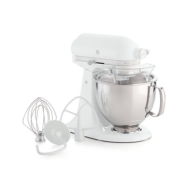 KitchenAid KSM150PSWW Artisan White On White Stand + Reviews | Crate And  Barrel