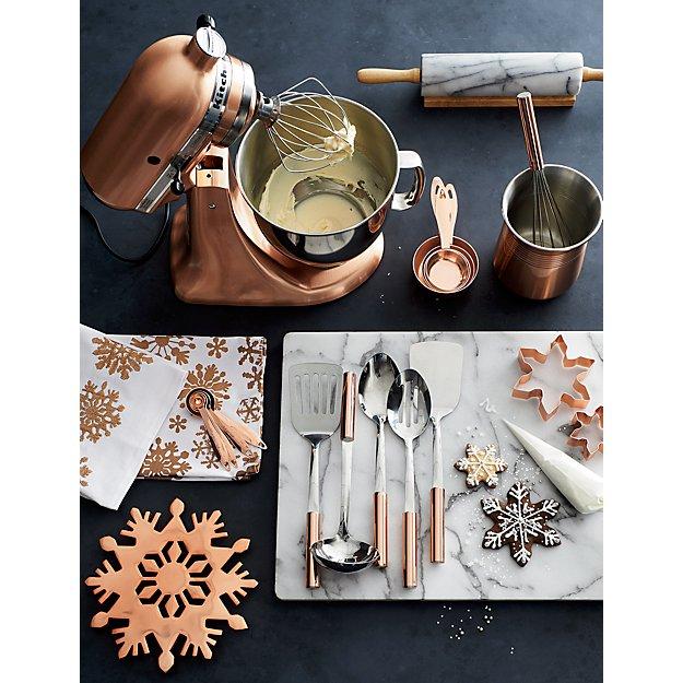Functional Copper Kids Kitchen Set: Copper Handled Utensils Set Of Six