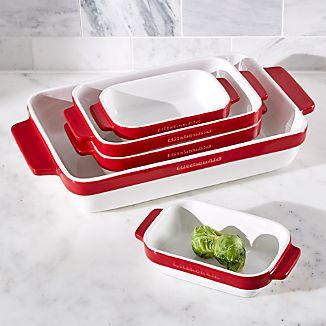 KitchenAid ® 5-Piece Red Ceramic Baking Dish Set