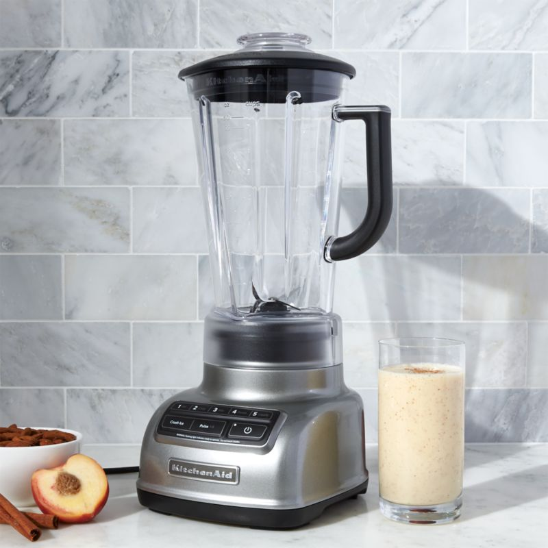 KitchenAid 5-Speed Contour Silver Diamond Vortex Blender | Crate ...