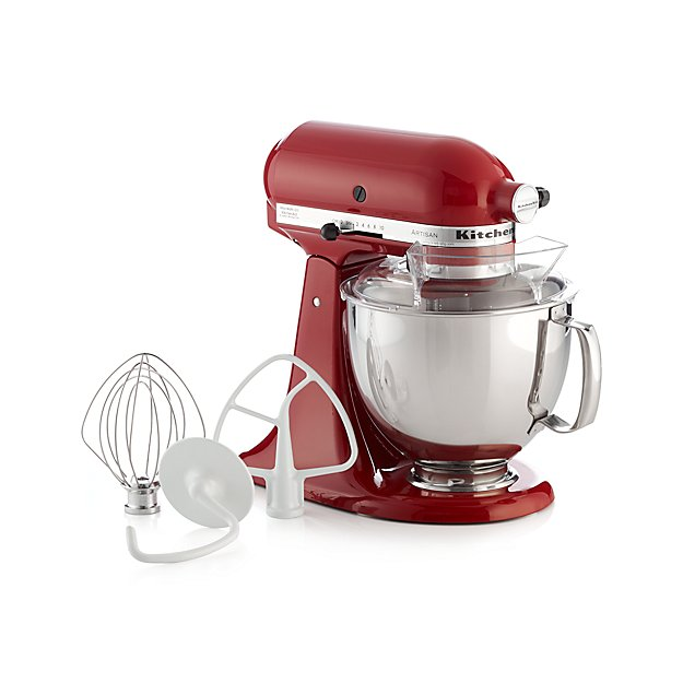 KitchenAid KSM150PSER Artisan Empire Red Stand Mix + Reviews | Crate And  Barrel