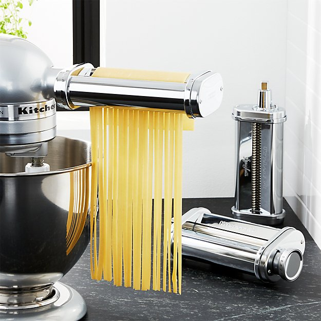 Kitchenaid 3 Piece Pasta Roller And Cutter Set Crate