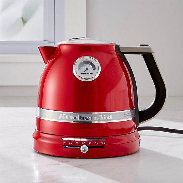 Red Kitchenaid Pro Line Electric Kettle Reviews Crate And Barrel