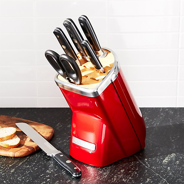 KitchenAid ® Professional Series 7-Piece Candy Apple Red Knife Block Set