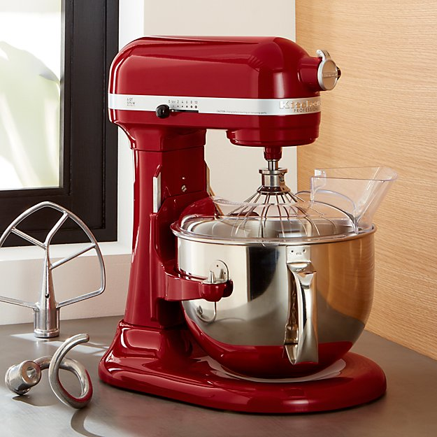 Kitchenaid Pro 600 Empire Red Stand Mixer Reviews Crate And Barrel
