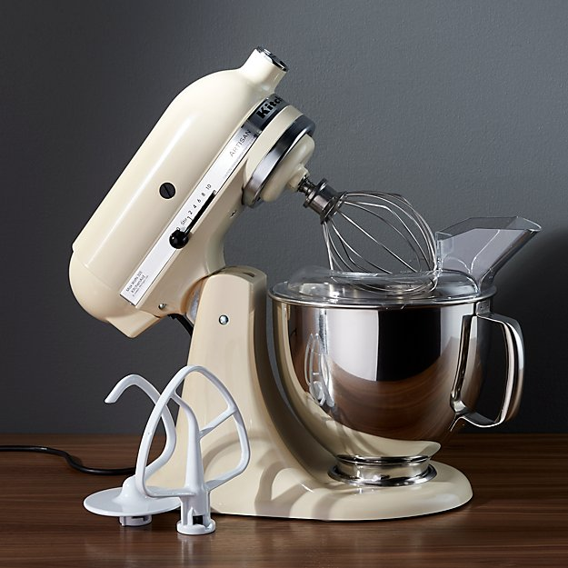 KitchenAid KSM150PSAC Artisan Almond Cream Stand M + Reviews   Crate on hand mixer with blender, magic bullet with blender, food processor with blender, coffee maker with blender, kitchen with blender, ice cream with blender, bosch mixer with blender, microwave with blender,